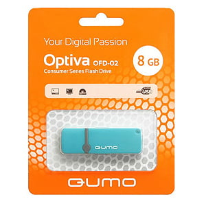 Флэш-диск QUMO 08 Gb Optiva-02 Blue