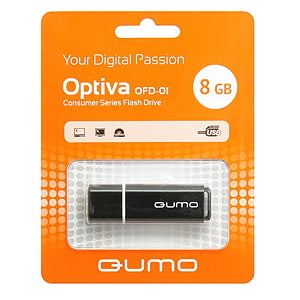Флэш-диск QUMO 08 Gb Optiva-01 Black