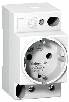 Розетка щитовая iPC DIN 2П+T 16А 250В нем. станд. Schneider Electric A9A15310
