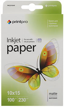 Фотобумага PME2301004R PrintPro Photo paper matte 230g/m, 10x15, 100pc.