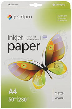 Фотобумага PME230050A4 PrintPro Photo paper matte 230g/m, A4, 50pc.